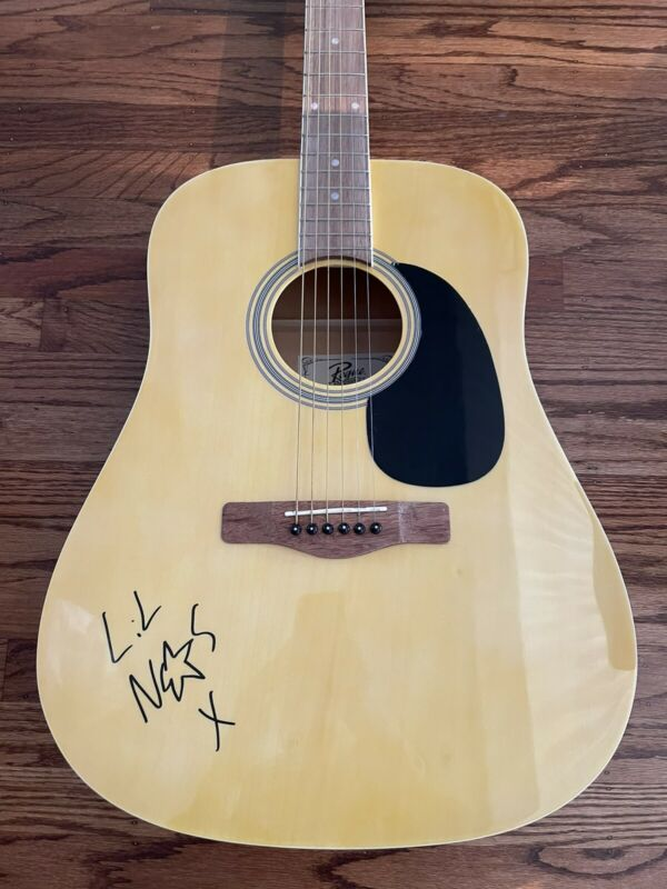 LIL NAS X SIGNED ACOUSTIC GUITAR AUTHENTIC BECKETT BAS COA #S45046