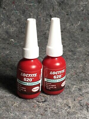 Dn Lot Of 2 New Loctite 620 Retaining Compound 234772 10ml