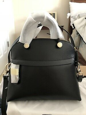 NWT FURLA Onyx Saffiano Piper S  Bag. Retail Price $428 +tax Made in Italy