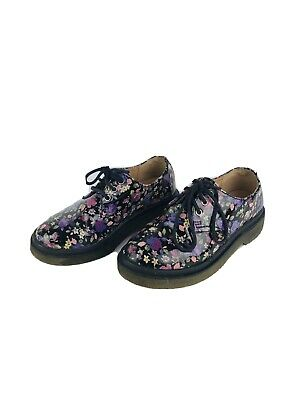 Kids Floral Doc Martens (Candies Doc Martens Purple Floral Girl's Combat Boots Shoes Youth Girls Sz 1)