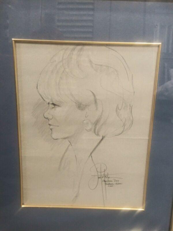 Christian Dior Portrait Drawing