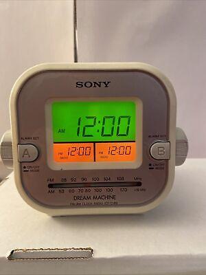 Sony Dream Machine ICF-C180 AM FM Dual Alarm Clock Radio Snooze Sleep Nap Tested