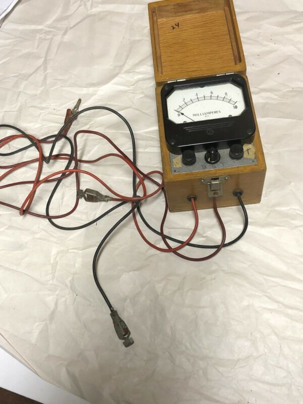 VTG Panel Meter Boatanchor Transmitter Weston  0-10 DC Milliamperes Model 801