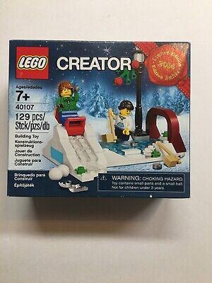 Lego 40107 Seasonal Holiday Winter fun Sledding Set NIB 2014
