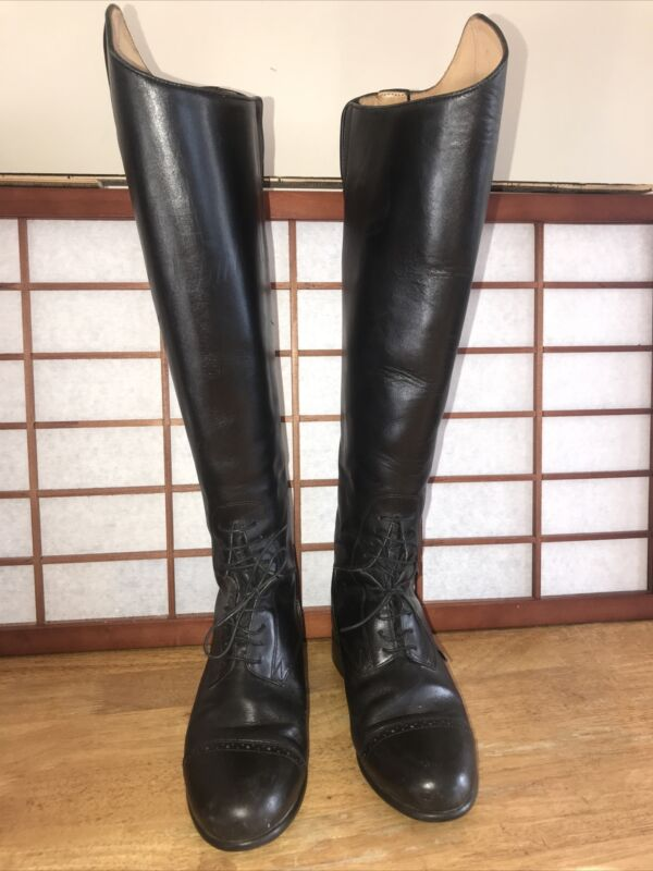 Ariat Genuine Leather Upper Black Tall Riding Boots Height Med/calf Size 7