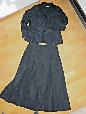 Hirsch Kostüm Kleid 2 tlg sportlich elegant schwarz Gr. 40 fast - Sportlich Kostüm
