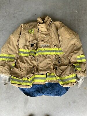 Firefighter Honeywell Morning Pride Turnout Bunker Coat 50 Chest X 34 Length Use