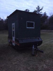 9x7 ice shack trailer