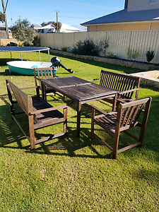 Wooden outdoor setting Golden Bay Rockingham Area Preview