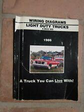 1986 GMC Electrical Wiring Diagram Dealer Manual Light ...