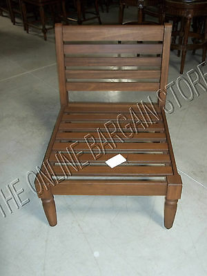 Pottery Barn Faraday Outdoor Wood Patio Armless Sectional Chair Frame Accent Swing Frame Accent