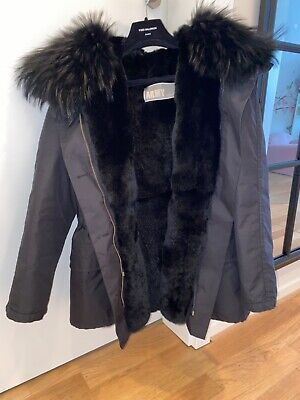Yves Salomon Army Parka short model rabbit fur lining 34FR oversized