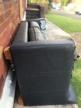 Genuine bovine leather couch lounge sofa for parts FREE Parramatta Parramatta Area Preview