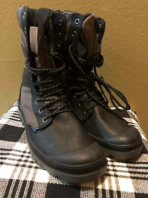 Palladium Combat Leather/Nylon Lace Up Boots ~ size 7M