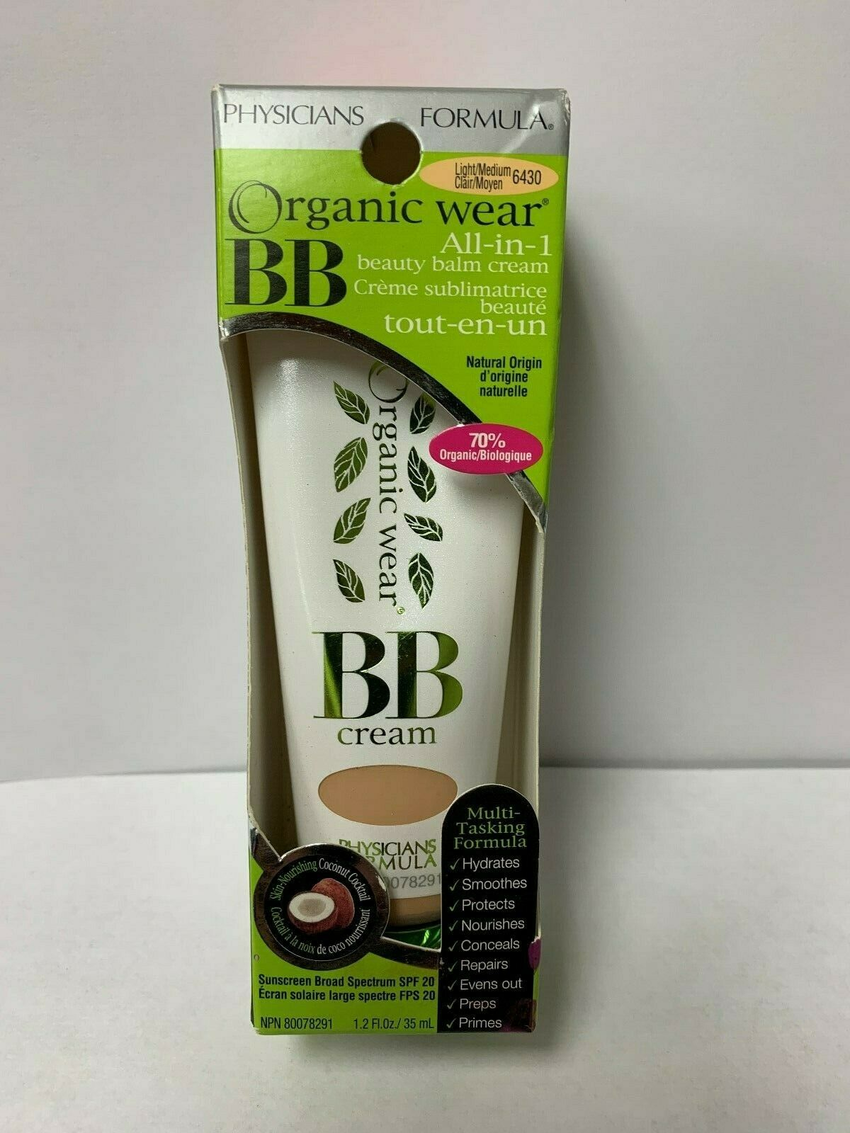 Physicians Formula Organic Wear All-in-1 Beauty Balm Cream,