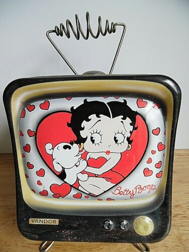 2000 Betty Boop Television Shaped Tin Bank ~Great Details~ ~VGCC~ 1 DAY SHIPPING