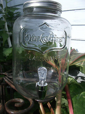 1 Large Circleware Yorkshire Sun Tea Mason Jar Glass Beverage Drink Dispenser XO ()
