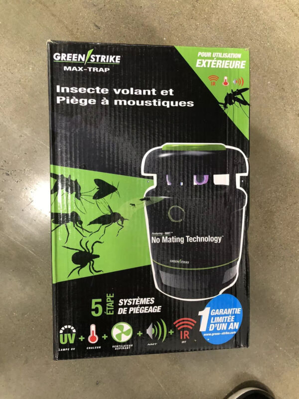 Green Strike Max-Trap Flying Insect and Mosquito Trap -NMT No Mating Technology