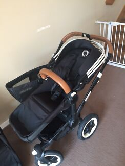 Bugaboo Donkey Duo All Black New Harness
