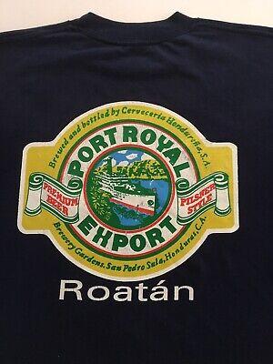 Navy Port Royal Export Beer Roatan Honduras Central America T-shirt X-Large (P3)