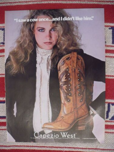 "1981 Capezio West boots ad ""I saw a cow once..and didn"