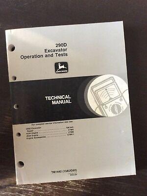 John Deere 290d Excavator Operation Test Shop Repair Service Manual Technical