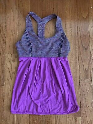 Lululemon Power Dance Tank Top Heathered Ultra Violet We Are From Space Size 8
