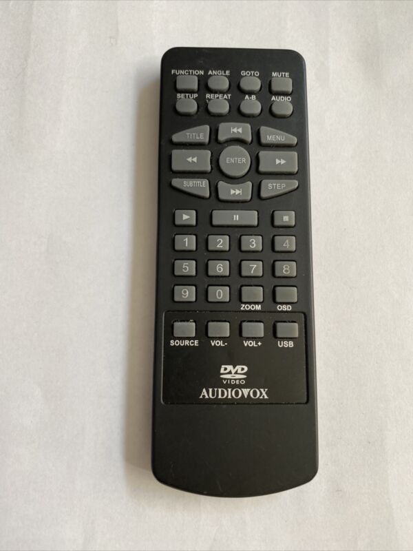 AUDIOVOX 13651800 PORTABLE DVD REMOTE CONTROL ORIGINAL