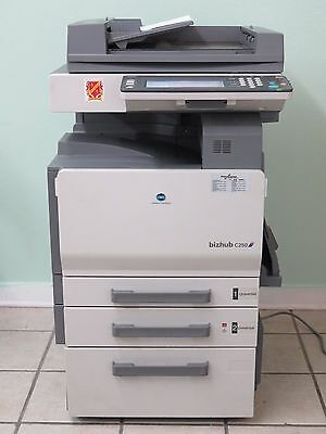 Konica-minolta Bizhub C250 Color Copier Printer Scanner Network W User Manuals