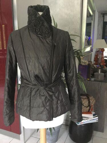 Manteau doudoune armani jeans taille 38/40 gris/taupe  bon etat 475€