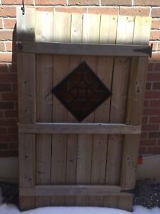 Wood Gate with Hardware