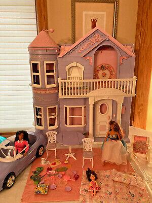 Barbie Dolls Vtg Lot 50pc 1990s Victorian Dream DOLLHOUSE Elevator Furniture Car