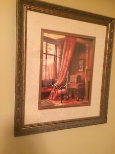 Framed picture 24x21 excellent condition