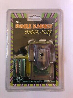 N64 Rumble Madness Shock Plug Nintendo Pack Pak New with batteries, usado comprar usado  Enviando para Brazil