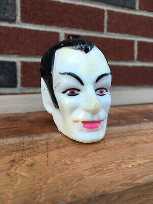 Vintage Blow Mold Vampire Dracula Head Halloween