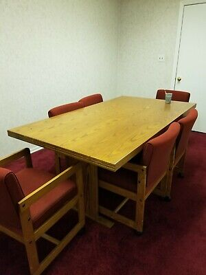 Dining Roomconference Table With 6 Chairs