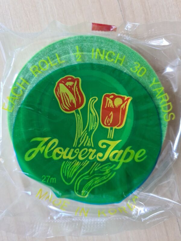 """Lot of 6 Green Floral Tape Stem Wrap 1/2"""" x 30 Yards 180 Yards Total Flower Tape"""