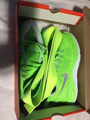 NIKE LUNARGLIDE 4 ELECTRIC GREEN  men's size 8 NEW 2 Nike Belts & Socks Inclu (Nike Electric Green Socks)