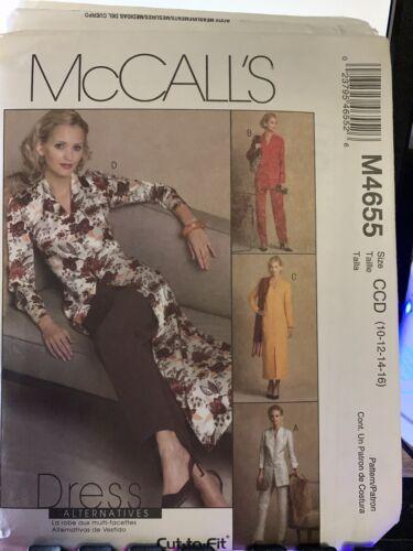McCall s 4655 Unlined Jackets, Dress, Duster Pants Sz 10-16 Uncut Factory Fold - $2.95