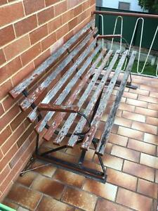 Outdoor Park Bench