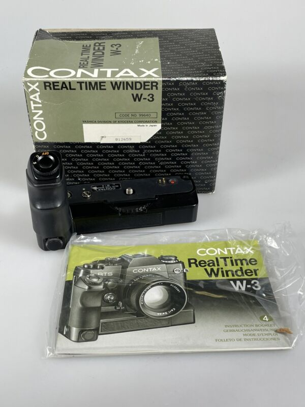 Contax Real Time Winder W-3 for RTS RTS II Hand Grip