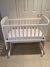 Childcare White Wooden Large Cradle (manchester as optional extra) Mackenzie Brisbane South East Preview