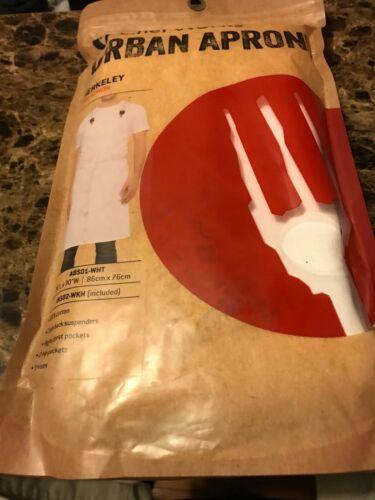 Chef Works urban apron Berkeley Bib in white