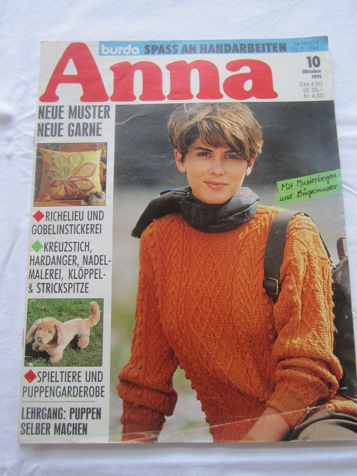 Anna Spass mit Handarbeiten Oktober 1991