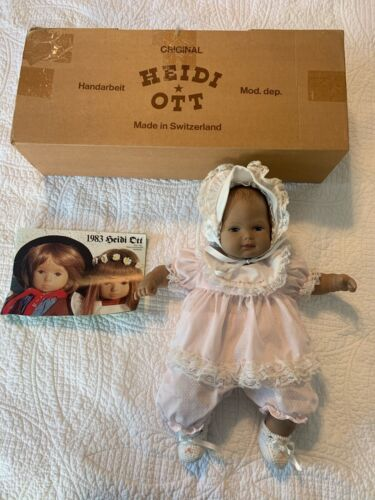 """Numbered, Limited Edition 16"""" Hand Painted Heidi Ott Baby Doll in Pink Dress"""
