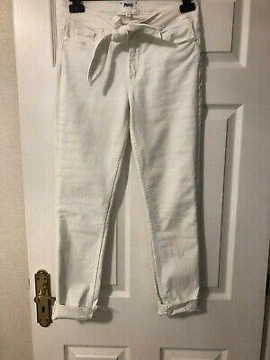 ladies white  denim jeans by  PAIGE size 26 hoxton ankle peg