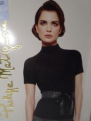 Damen Rollkragen Mock (Philippe Matignon Damen Plasir Maglia Ebano Mock Rollkragen Pullover Top Nib 198)
