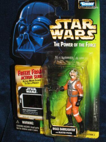 Vintage Star Wars Figure wFreeze Frame Action Slide Star Wars The Power of the Force DARTH VADER 3 34 Action Figure NIP