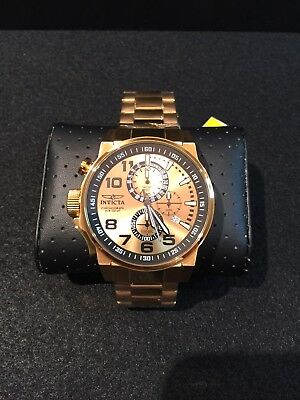Invicta Men's Force 14958 All Gold Lefty Chronograph Watch Stunning!