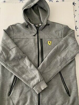 Puma Men's Ferrari Hooded Sweat Jacket And Sweat Pants, Size:Extra large